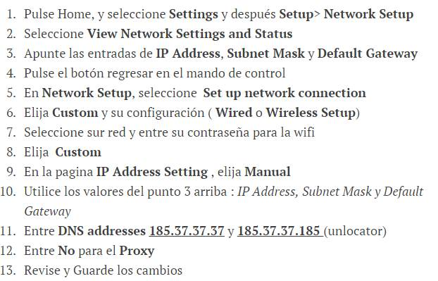Configurar Blu-ray y Smart TV con Unlocator
